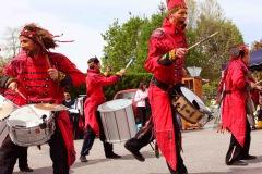 Les Guerriers Tambourinaires à la percussion